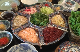 The makings of my Mom's Popiah Feast