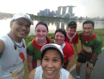 Marina Bay Sands in the background.