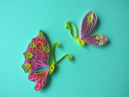 My cheerful quilled butterflies!