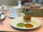 The softest steamed bun with pandan custard, milk tea custard & condense milk