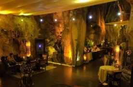 Jeff's Cellar: a restaurant in a limestone cave