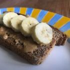 Banana & peanut butter on spelt