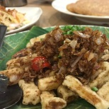 Eggplant fries with dried shrimp & chilli (Yum Yum, Ipoh)