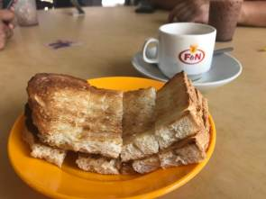 Kaya Toast (Ah Wang Cafe, Penang): best ever! with charcoal grilled bread sandwiching butter & kaya