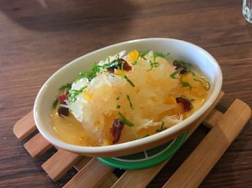 Panna Cotta with pomelo & yuzu (Bareesta, Ipoh): an Asian twist