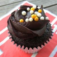 Minty Dark Chocolate Cupcakes: a family Speciality