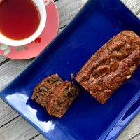 Persimmon Loaf Cake for our Virtual Tea Party